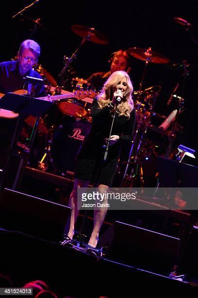 Recording artist Lisa Matassa performs during Playin' Possum The Final No Show Tribute To George Jones at Bridgestone Arena on November 22 2013 in...