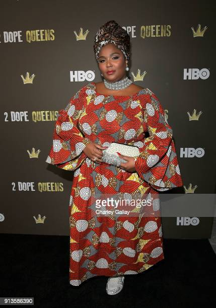 Recording artist Lizzo attends HBO's 2 Dope Queens LA Slumber Party Premiere on February 2, 2018 in Los Angeles, California.