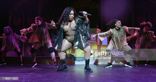 Recording artist Lizzo performs at The Chelsea at The Cosmopolitan of Las Vegas on October 25 2019 in Las Vegas Nevada