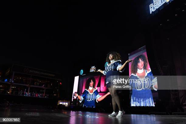 Recording artist Lizzo performs onstage in concert during ATT Playoff Playlist Live at Centennial Olympic Park on January 6 2018 in Atlanta Georgia