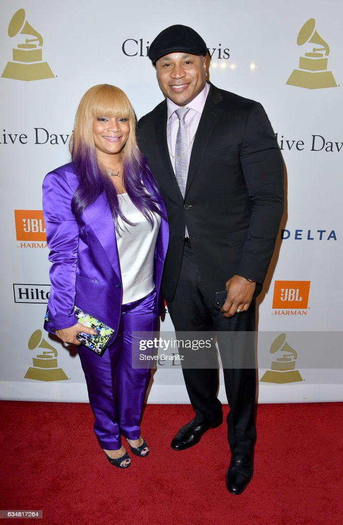 Recording artist LL Cool J (R) and Simone Smith attend Pre-GRAMMY Gala and Salute to Industry Icons Honoring Debra Lee at The Beverly Hilton on February 11, 2017 in Los Angeles, California.
