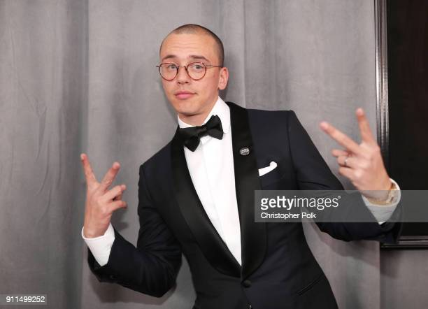 Recording artist Logic attends the 60th Annual GRAMMY Awards at Madison Square Garden on January 28 2018 in New York City