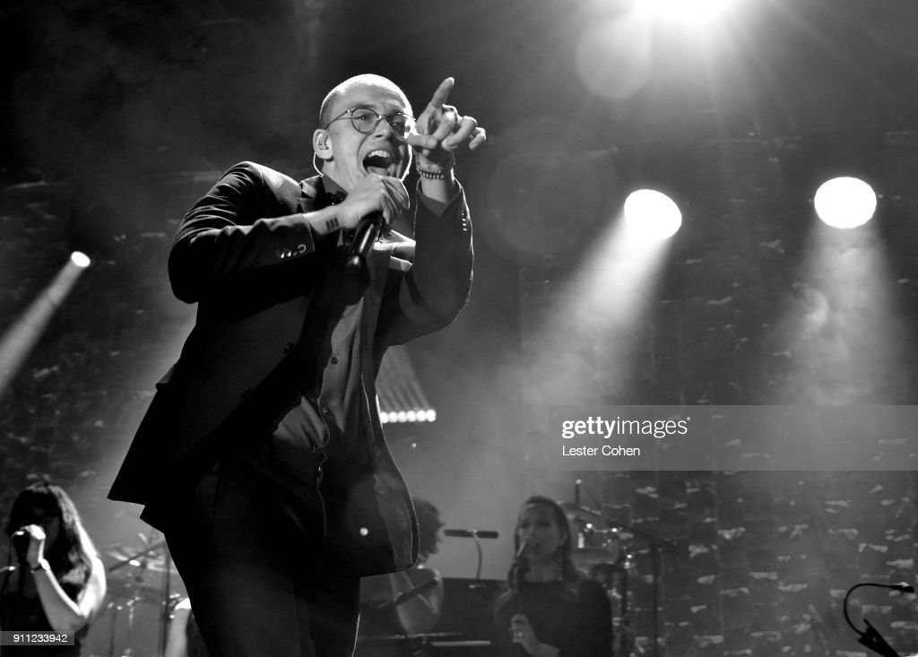 Recording artist Logic performs onstage during the Clive Davis and Recording Academy Pre-GRAMMY Gala and GRAMMY Salute to Industry Icons Honoring Jay-Z on January 27, 2018 in New York City.