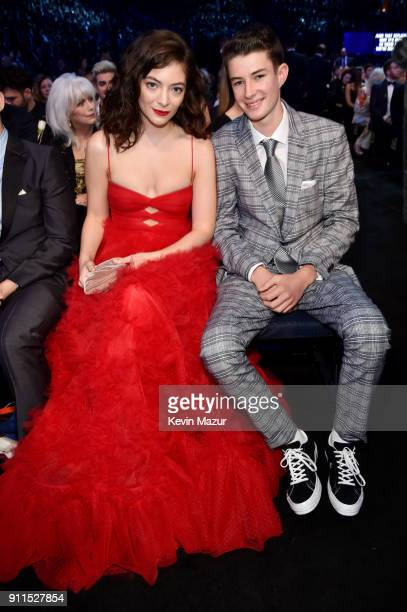Recording artist Lorde and brother Angelo YelichO'Connor attend the 60th Annual GRAMMY Awards at Madison Square Garden on January 28 2018 in New York...