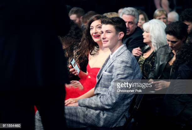 Recording artist Lorde and brother Angelo YelichO'Connor attend attends the 60t Annual GRAMMY Awards at Madison Square Garden on January 28 2018 in...