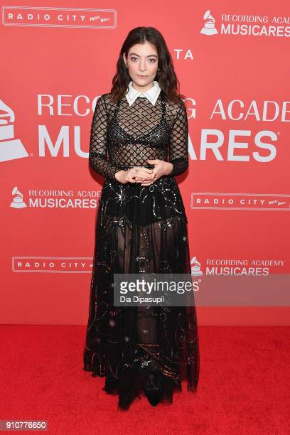 Recording artist Lorde attends MusiCares Person of the Year honoring Fleetwood Mac at Radio City Music Hall on January 26 2018 in New York City