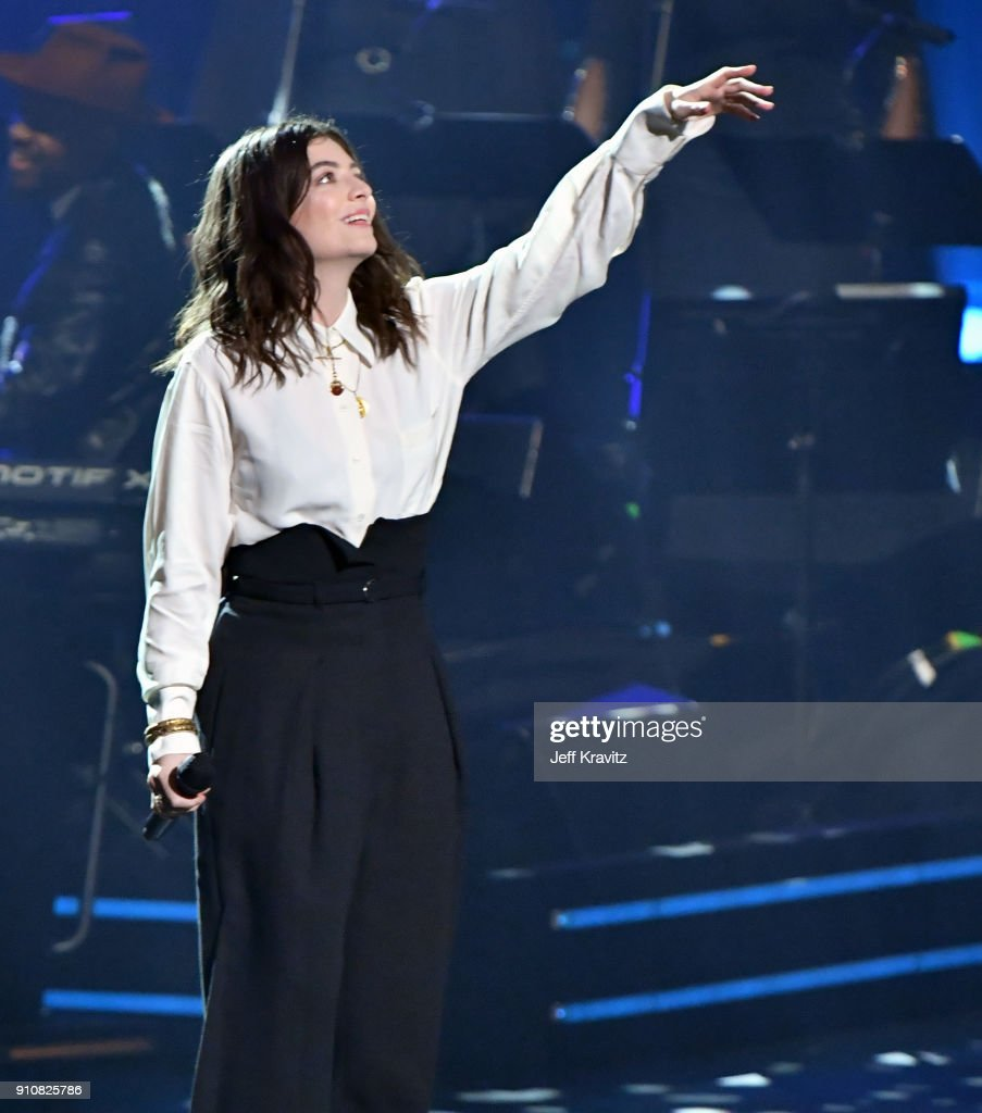 Recording artist Lorde performs onstage during MusiCares Person of the Year honoring Fleetwood Mac at Radio City Music Hall on January 26, 2018 in New York City.