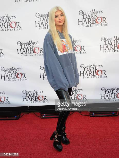 Recording Artist Loren Gray arrives for The Queen Mary's Dark Harbor Media And VIP Night held at The Queen Mary on September 28 2018 in Long Beach...