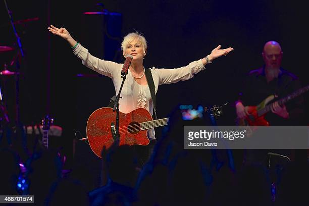 Recording Artist Lorrie Morgan performs during the I Am A woman Benefit concert honoring Debbie Ballentine at Wildhorse Saloon on March 17 2015 in...