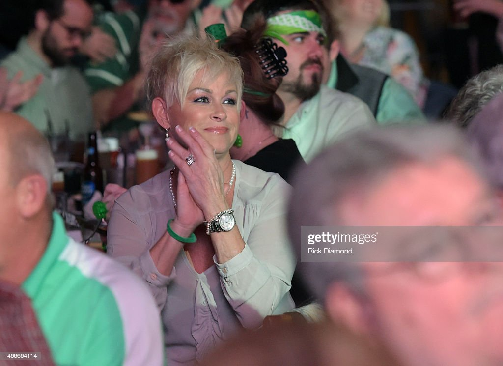 Recording Artist Lorrie Morgan watches her son Jesse Keith Whitley perform during, I Am A Woman Benefit Concert to honor long-time music industry veteran Debbie Ballentine at Wildhorse Saloon on March 17, 2015 in Nashville, Tennessee.