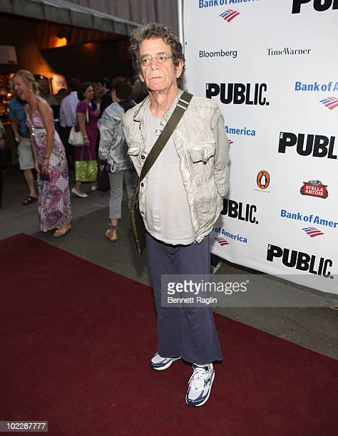 Recording artist Lou Reed attends the 2010 Public Theater Gala at the Delacorte Theater on June 21 2010 in New York City