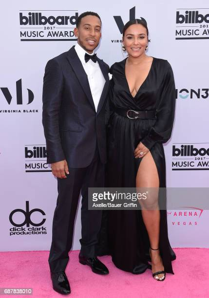 Recording artist Ludacris and Eudoxie Mbouguiengue arrive at the 2017 Billboard Music Awards at TMobile Arena on May 21 2017 in Las Vegas Nevada