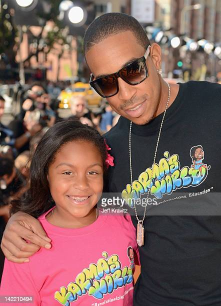 Recording Artist Ludacris and his daughter Karma Bridges arrive at the 2012 Nickelodeon's Kids' Choice Awards at Galen Center on March 31 2012 in Los...