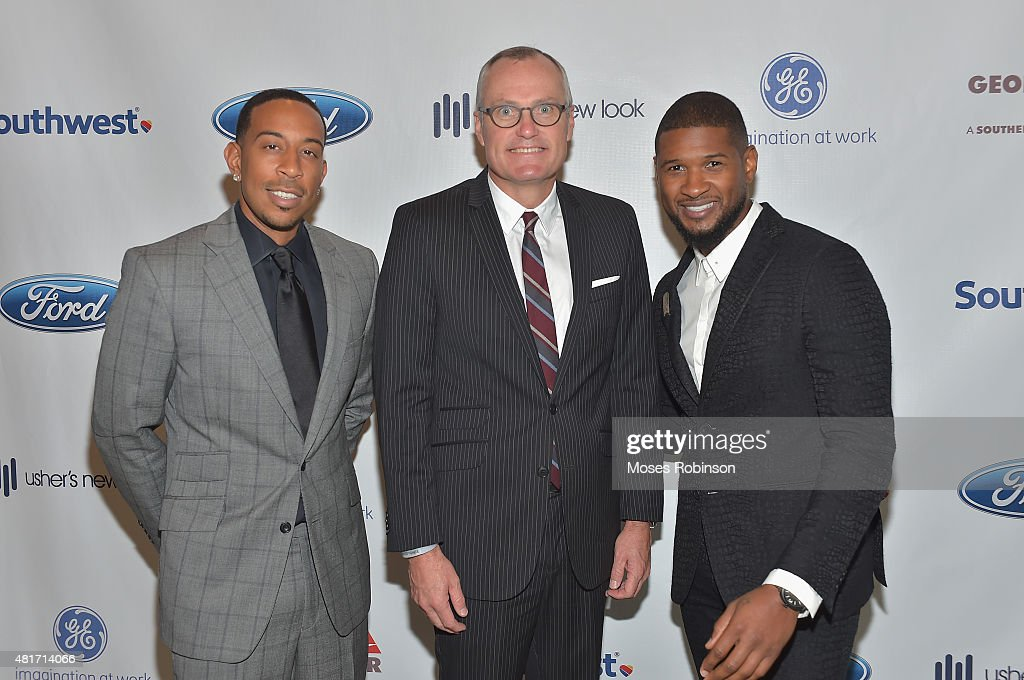 Recording Artist Ludacris,Georgia Lieutenant Governor Casey Cagle and recording artist Usher Raymond attend Ushers New Look United to Ignite Awards Presidents Circle Luncheon on July 23, 2015 in Atlanta, Georgia.