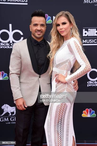 Recording artist Luis Fonsi and model Agueda Lopez attend the 2018 Billboard Music Awards 2018 at the MGM Grand Resort International on May 20 2018...