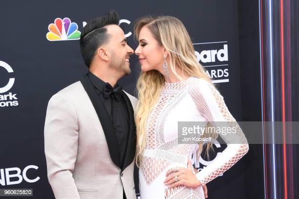 Recording artist Luis Fonsi and model Agueda Lopez attend the 2018 Billboard Music Awards at MGM Grand Garden Arena on May 20 2018 in Las Vegas Nevada