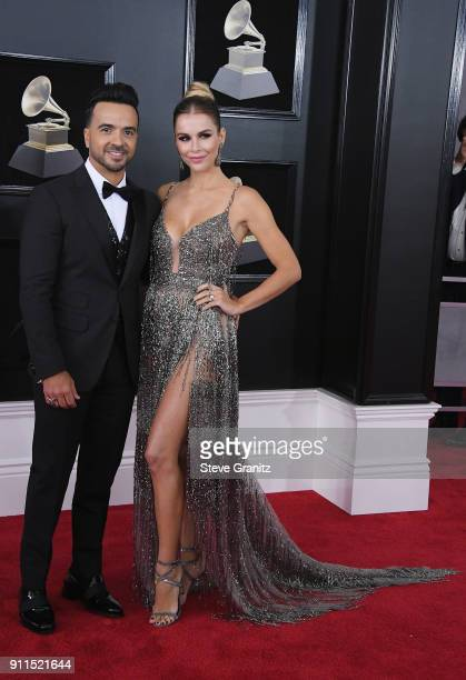 Recording artist Luis Fonsi and model Agueda Lopez attend the 60th Annual GRAMMY Awards at Madison Square Garden on January 28 2018 in New York City