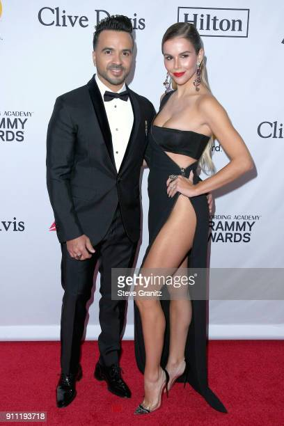 Recording artist Luis Fonsi and model Agueda Lopez attend the Clive Davis and Recording Academy PreGRAMMY Gala and GRAMMY Salute to Industry Icons...