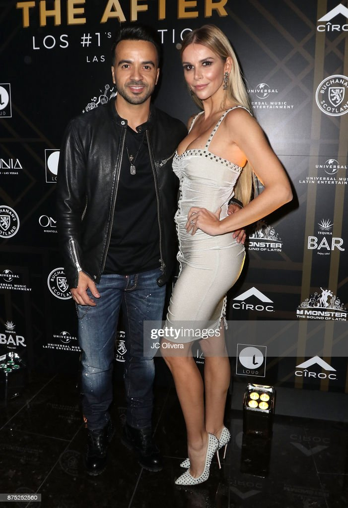 Recording artist Luis Fonsi and wife Agueda Lopez attend Universal Music Latin Entertainment 'The After, Las Vegas - Los Numero Uno Edition' at Omnia Nightclub at Caesars Palace on November 16, 2017 in Las Vegas, Nevada.