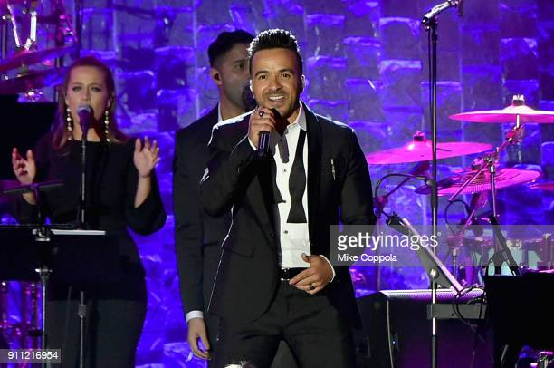 Recording artist Luis Fonsi performs onstage during the Clive Davis and Recording Academy PreGRAMMY Gala and GRAMMY Salute to Industry Icons Honoring...