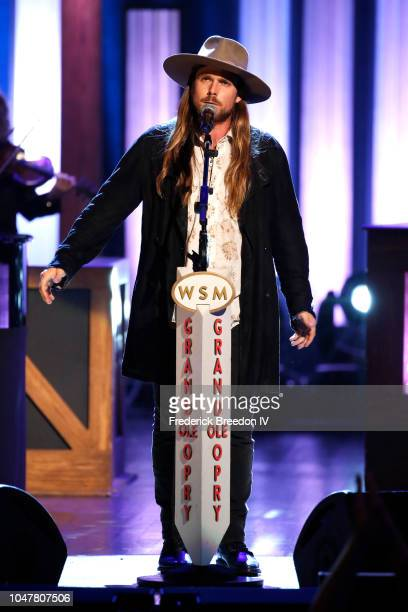 Recording artist Lukas Nelson performs onstage during An Opry Salute to Ray Charles at The Grand Ole Opry on October 8 2018 in Nashville Tennessee
