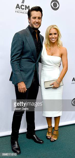 Recording artist Luke Bryan arrive at the 10th Annual ACM Honors at the Ryman Auditorium on August 30 2016 in Nashville Tennessee