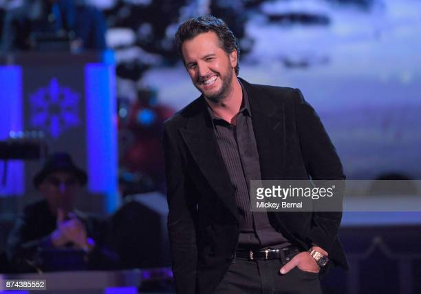 Recording artist Luke Bryan performs during CMA 2017 Country Christmas at The Grand Ole Opry on November 14 2017 in Nashville Tennessee