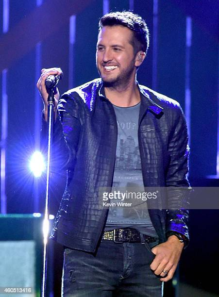 Recording artist Luke Bryan performs onstage during the 2014 American Country Countdown Awards at Music City Center on December 15 2014 in Nashville...