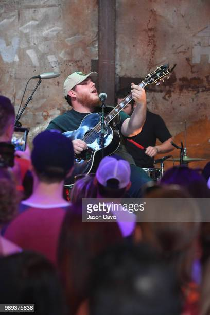 Recording artist Luke Combs performs onstage in the HGTV Lodge at CMA Music Fest on June 7 2018 in Nashville Tennessee
