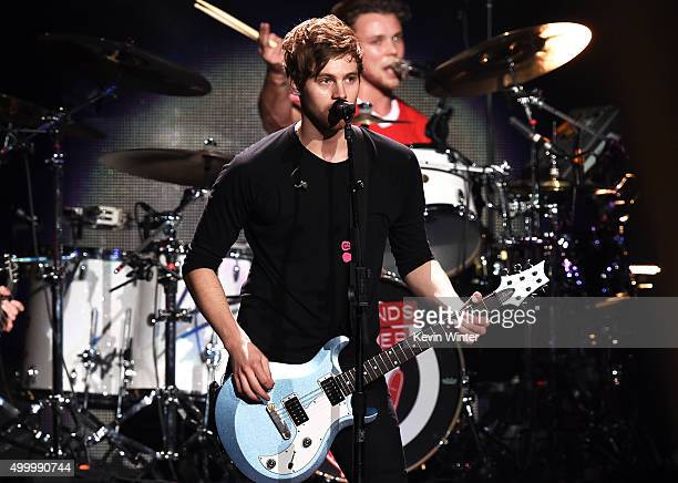 Recording artist Luke Hemmings of 5 Seconds of Summer performs onstage during 1027 KIIS FM's Jingle Ball 2015 Presented by Capital One at STAPLES...