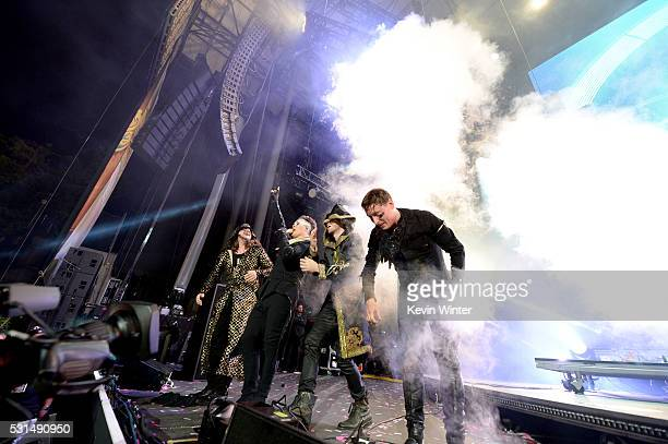 Recording artist Luke Steele and music group Empire of the Sun perform onstage at KROQ Weenie Roast 2016 at Irvine Meadows Amphitheatre on May 14...