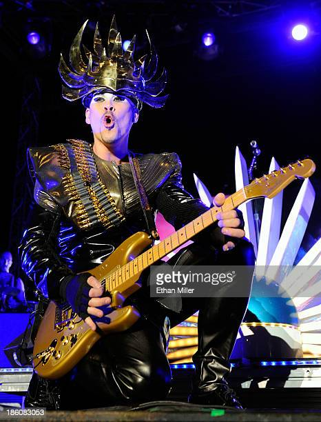 Recording artist Luke Steele of Empire of the Sun performs during the Life is Beautiful festival on October 27 2013 in Las Vegas Nevada