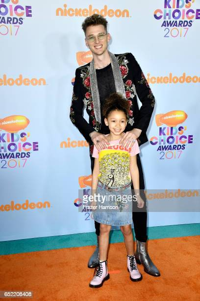Recording artist Machine Gun Kelly and Casie Colson Baker at Nickelodeon's 2017 Kids' Choice Awards at USC Galen Center on March 11 2017 in Los...