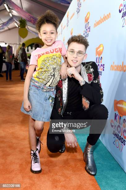 Recording artist Machine Gun Kelly and Casie Colson Baker at Nickelodeon's 2017 Kids' Choice Awards at USC Galen Center on March 11, 2017 in Los...