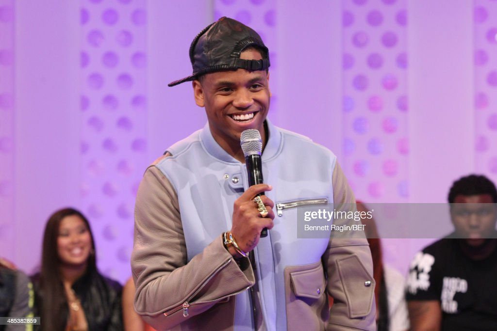 Recording artist Mack Wilds visits 106 & Park at BET studio on April 16, 2014 in New York City.