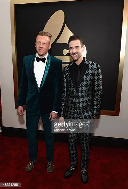 Recording artist Macklemore and producer Ryan Lewis attend the 56th GRAMMY Awards at Staples Center on January 26, 2014 in Los Angeles, California.