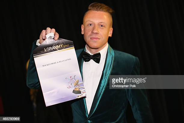 Recording artist Macklemore winner of Best New Artist attends the 56th GRAMMY Awards at Staples Center on January 26 2014 in Los Angeles California