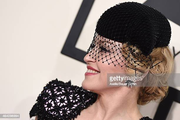 Recording artist Madonna arrives at the 57th Annual GRAMMY Awards at Staples Center on February 8 2015 in Los Angeles California