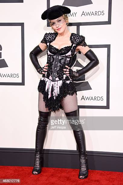 Recording artist Madonna attends The 57th Annual GRAMMY Awards at the STAPLES Center on February 8 2015 in Los Angeles California