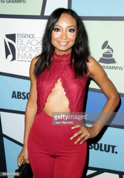 Recording artist Malina Moye attends 2017 Essence Black Women in Music at NeueHouse Hollywood on February 9 2017 in Los Angeles California
