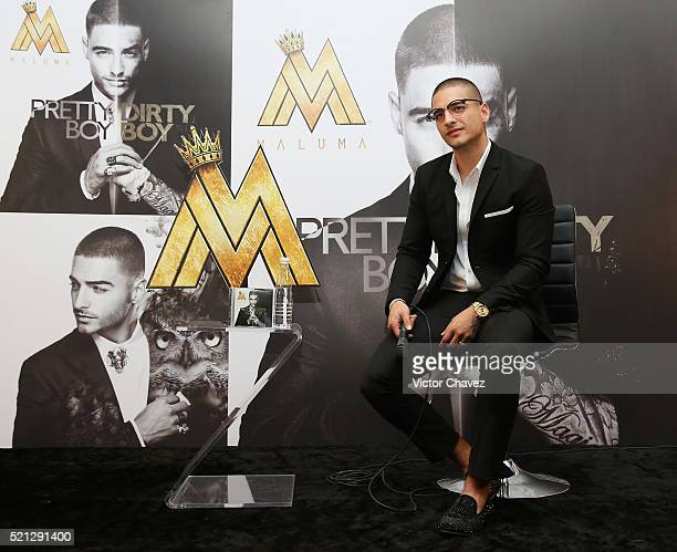 Recording artist Maluma attends a press conference to promote his album 'Pretty Boy Dirty Boy' and his tour in Mexico at Hotel Presidente...
