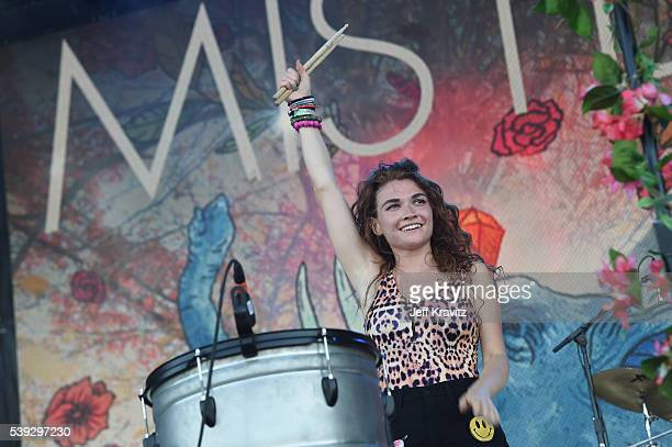 Recording artist Mandy Lee of Misterwives performs onstage at What Stage during Day 2 of the 2016 Bonnaroo Arts And Music Festival on June 9, 2016 in...