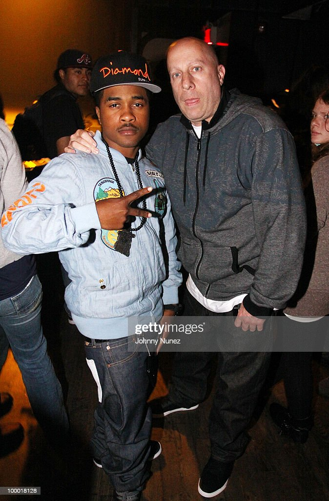 Recording artist Mann and artist manager Steve Lobel attend the Highline Ballroom on May 19, 2010 in New York City.