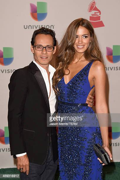 Recording artist Marc Anthony and model Shannon De Lima attend the 15th Annual Latin GRAMMY Awards at the MGM Grand Garden Arena on November 20 2014...