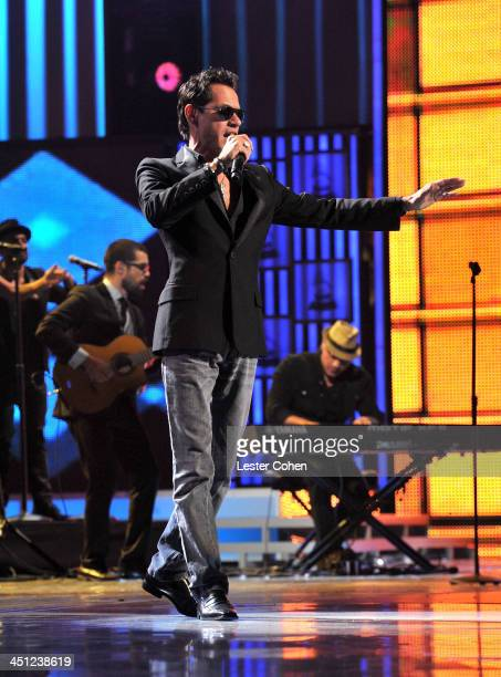 Recording artist Marc Anthony performs onstage during The 14th Annual Latin GRAMMY Awards at the Mandalay Bay Events Center on November 21 2013 in...
