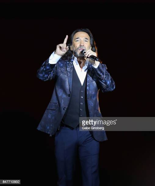 Recording artist Marco Antonio Solis performs at the Mandalay Bay Events Center on September 15 2017 in Las Vegas Nevada