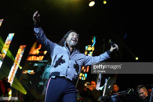 Recording artist Marco Antonio Solis performs onstage at Honda Center on August 24, 2018 in Anaheim, California.
