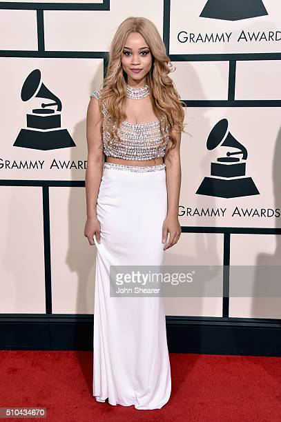 Recording artist Marcy attends The 58th GRAMMY Awards at Staples Center on February 15 2016 in Los Angeles California