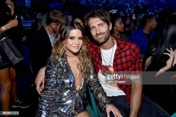 Recording artist Maren Morris and Ryan Hurd attend the 2018 Billboard Music Awards at MGM Grand Garden Arena on May 20 2018 in Las Vegas Nevada