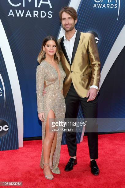 Recording artist Maren Morris and Ryan Hurd attend the 52nd annual CMA Awards at the Bridgestone Arena on November 14 2018 in Nashville Tennessee